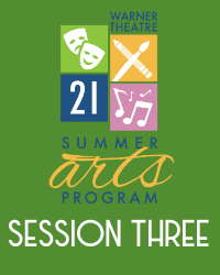 poster for Summer Arts Program 2021 - Session 3