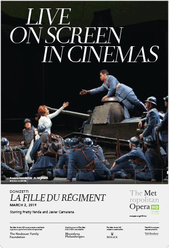 Donizetti's LA FILLE DU REGIMENT Logo